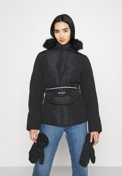 Missguided - SKI JACKET WITH MITTENS AND BUMBAG  - Winterjacke - black