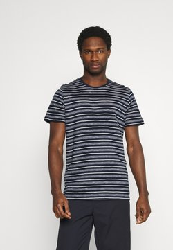 TOM TAILOR - STRIPED - T-Shirt print - blue/offwhite