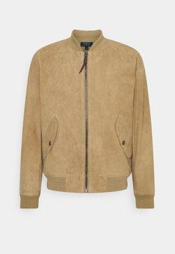 Polo Ralph Lauren - TISSUE GUNNERS  - Leather jacket - desert khaki