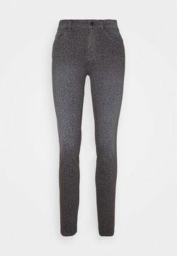 TOM TAILOR - ALEXA SLIM PRINTED - Jeans Slim Fit - dark grey