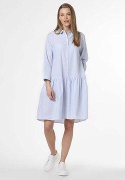 Marie Lund - Blusenkleid - hellblau weiß