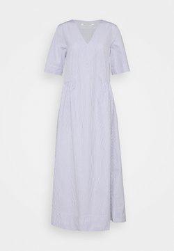 Wood Wood - NOVA POPLIN DRESS - Maxikleid - blue