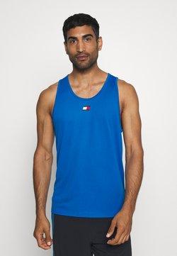 Tommy Sport - TRAINING TANK LOGO - Funktionsshirt - blue