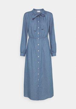 Vila - VIBASTA MAXI DRESS - Vestido camisero - medium blue denim