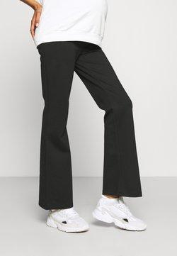 LOVE2WAIT - PANTS FLARED PONTE - Pantalones - black