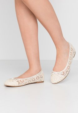 Evans - WIDE FIT RILEY  LACE BALLET - Bailarinas - ivory