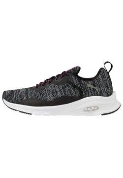 Puma - HYBRID FUEGO - Zapatillas de running neutras - black/luminous pink