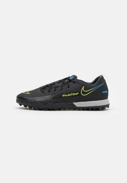 Nike Performance - PHANTOM GT ACADEMY TF - Astro turf trainers - black/cyber/light photo blue