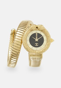 Just Cavalli - GOLD & BLACK SINGLE WRAP WATCH - Rannekello - black sunray (inner)/ champagne sunray (outer)