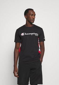 Champion - OFF COURT CREWNECK - T-shirt con stampa - black/white
