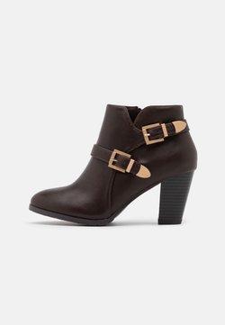 Wallis Wide Fit - WIDE FIT WANTAGE - Ankelstøvler - chocolate