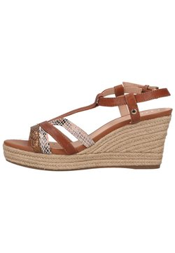 Geox - Keilsandalette - brown/light orange