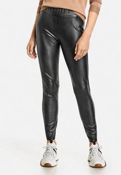Gerry Weber - Pantalon en cuir - schwarz