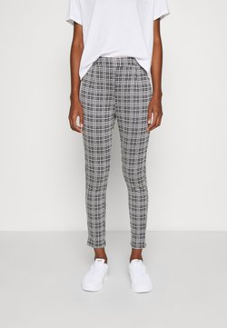 Even&Odd - Checked Leggings - Leggings - Hosen - black/white
