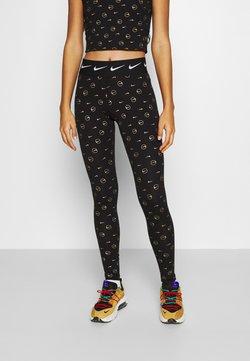 Nike Sportswear - PRINT PACK - Leggings - black/metallic gold