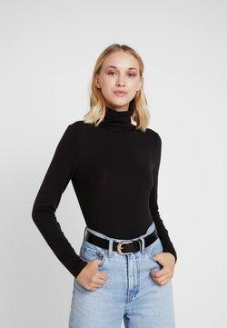Vero Moda - VMAVA LULU ROLLNECK BLOUSE - Langarmshirt - black