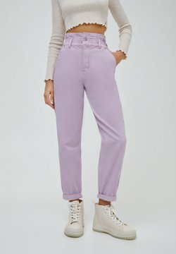 PULL&BEAR - PAPERBAG - Jeans Relaxed Fit - purple