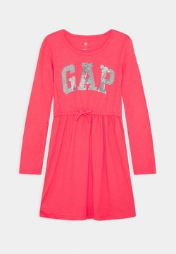 GAP - GIRLS FLIP LOGO DRESS - Jerseykleid - rosehip