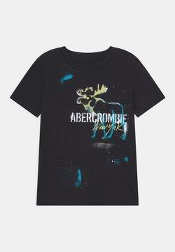 Abercrombie & Fitch - GRAFFITI PRINT LOGO - T-shirt z nadrukiem - black