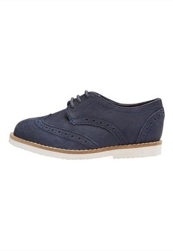 Next - LEATHER BROGUES  - Oksfordki - blue
