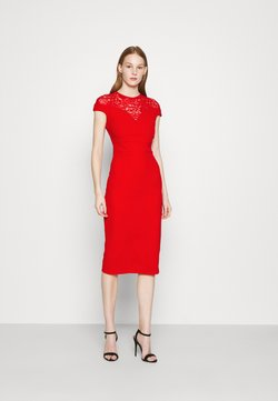 WAL G. - MADELINE MIDI DRESS - Shift dress - red