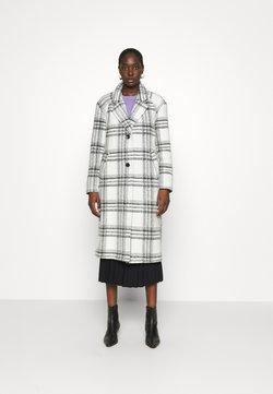 Dorothy Perkins - MIDI SINGLE BREASTED CHECK COAT - Classic coat - cream