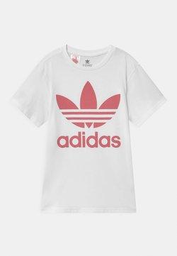 adidas Originals - TREFOIL - T-shirt con stampa - white/hazy rose