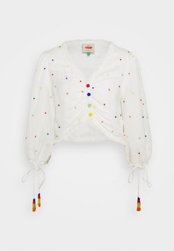Farm Rio - BEADED BLOUSE - Camicetta - off-white