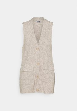 Noisy May - NMNETE LONG VEST - Weste - chateau gray