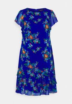 Lauren Ralph Lauren - CYRENA SHORT SLEEVE DAY DRESS - Freizeitkleid - sapphire star/blue/multi