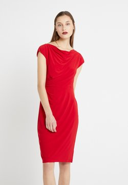 Lauren Ralph Lauren - MID WEIGHT DRESS - Vestido de tubo - parlor red