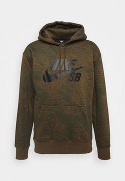 Nike SB - HOODIE UNISEX - Kapuzenpullover - cargo khaki/(black)
