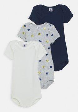Petit Bateau - BABY 3 PACK - Body / Bodystockings - dark blue/grey/white