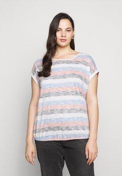 MY TRUE ME TOM TAILOR - INSIDE STRIPE - T-Shirt print - blue/multicolor