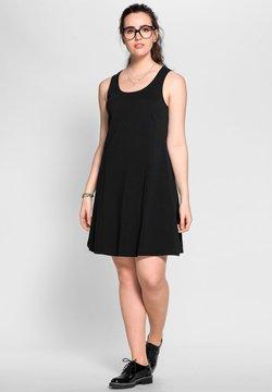 Sheego - Jerseykleid - schwarz