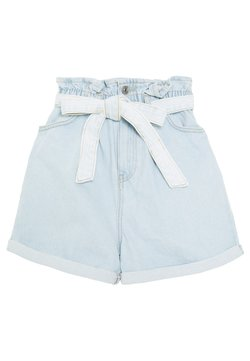New Look - FREDDIE PAPERBAG - Jeansshort - blue