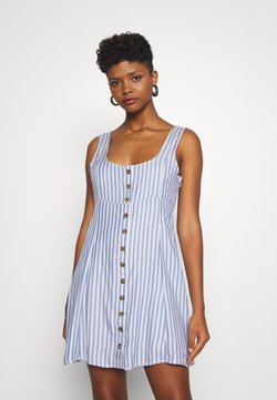 American Eagle - LINED TIE BACK MINI DRESS - Freizeitkleid - cobalt