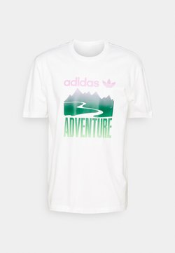adidas Originals - MOUNT TEE - T-Shirt print - white