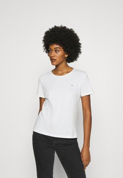 Tommy Jeans - SLIM CNECK - T-shirt basic - white