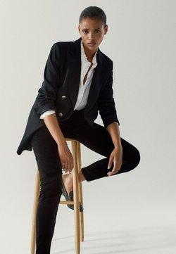 Massimo Dutti - MIT HOHEM BUND - Jeans Skinny Fit - black