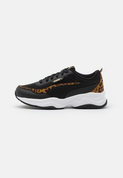 Puma - CILIA MODE LEO - Sneakers laag - black/team gold/white