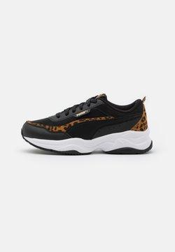 Puma - CILIA MODE LEO - Sneakers laag - black/team gold/white