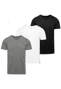 Diesel - 3 PACK - Basic T-shirt - black-white-grey