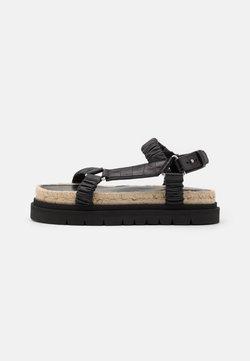 3.1 Phillip Lim - NOA STRAPPY PLATFORM SLIDE - Korkeakorkoiset sandaalit - black
