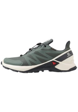 Salomon - SUPERCROSS GTX - Zapatillas de trail running - balsam green/vanilla ice/india ink