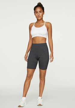 OYSHO - MARL CYCLE LEGGINGS - Tights - dark grey