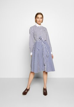 Polo Ralph Lauren - LONG SLEEVE CASUAL DRESS - Blusenkleid - white/navy
