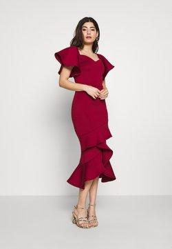 True Violet Petite - BARDOT MIDI DRESS - Cocktail dress / Party dress - burgundy