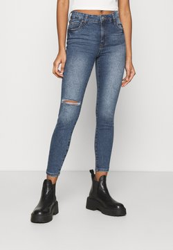 Cotton On - MID RISE CROPPED - Jeans Skinny Fit - surfers blue