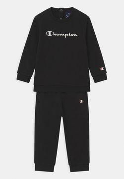 Champion - BASIC LOGO TODDLER CREWNECK SET UNISEX - Trainingsanzug - black
